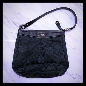 Classic Coach black fabric purse